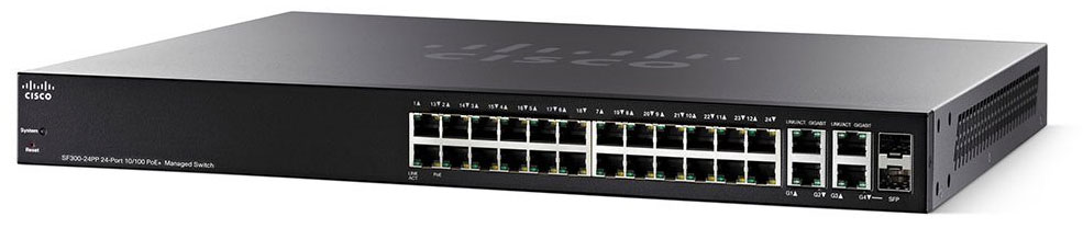 Cisco SF300-24MP 24-Port Max PoE+ Managed Switch (SF300-24MP-K9-NA)