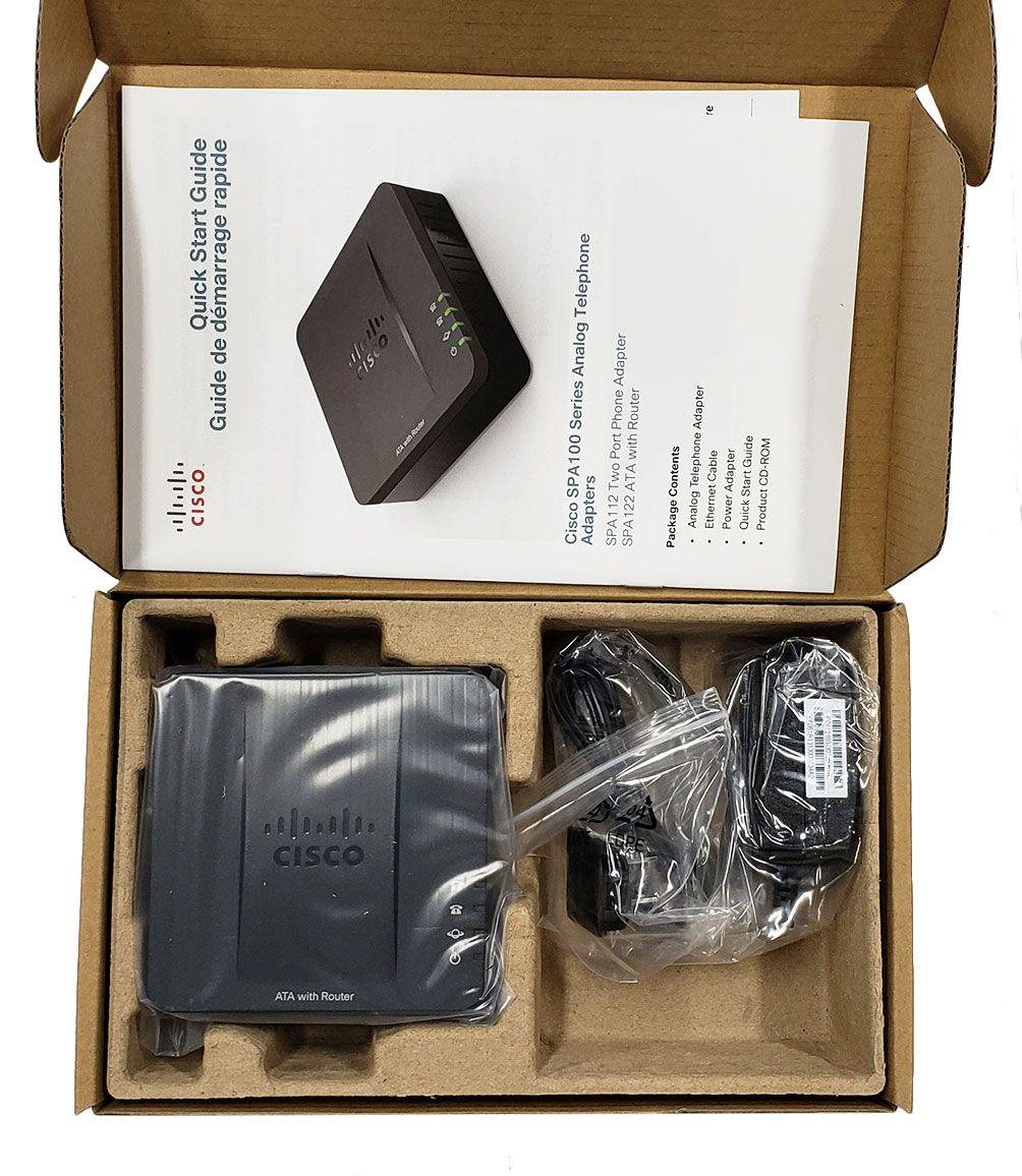 Cisco SPA122 Analog Telephone Adapter w/Router (SPA122)