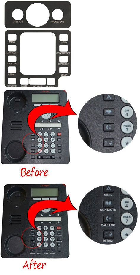 English Text Label for Avaya 1408, 1416, 1608-I, and 1616-I Global Phones