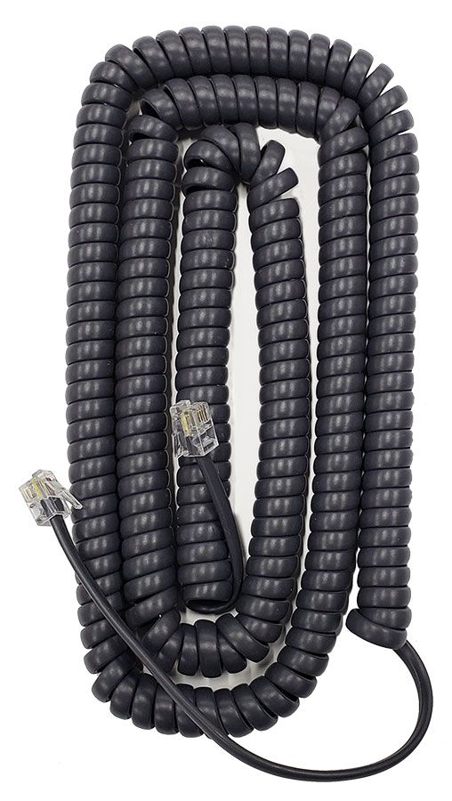 Extended Length Flat Charcoal Purple Handset Cords (HCFCP0125) 5 Pack