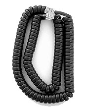 Extended Length Handset Cords for Avaya 1400 Series (Matte Black) 5/pk.