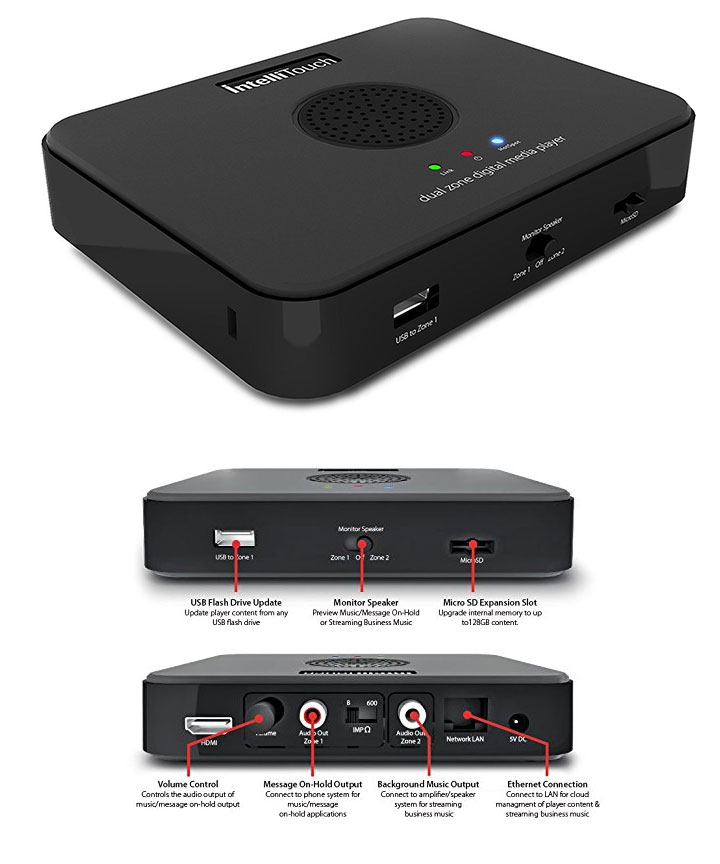 Intellitouch OHP 9000-IP Dual Zone Audio Player