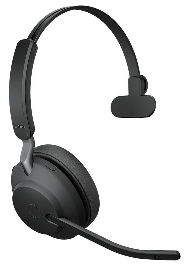 Jabra Evolve2 65 UC Mono Wireless Headset w/Charging Stand (26599-889-989, USB-A)