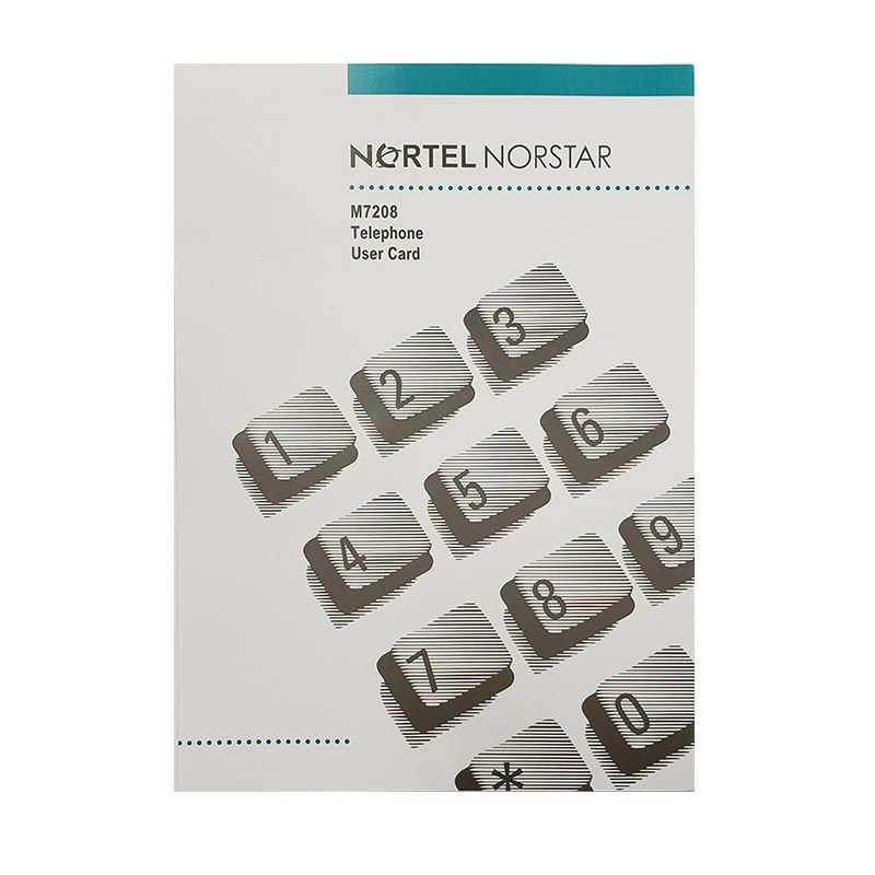 Norstar M7208 Button Set, Labels, Feature Card w/Overlay, and Literature Pack