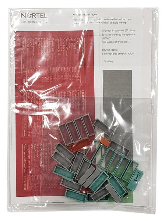 Norstar M7324 Button Set, Labels, Feature Card w/Overlay, and Literature Pack