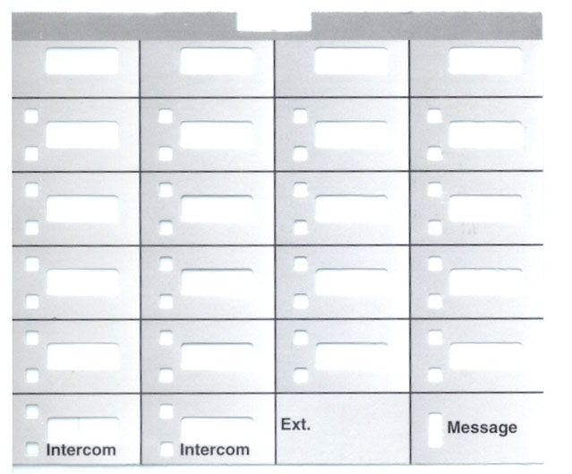 Partner 18D Telephone Labels (10 labels)