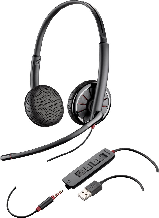 Plantronics Blackwire 325.1-M USB Headset (204446-01, 204446-101)