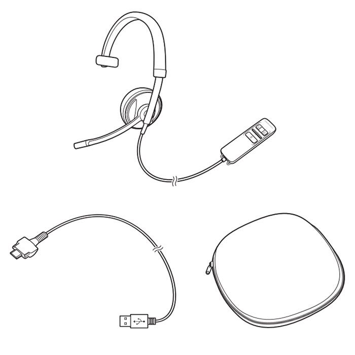 Plantronics Blackwire C710 USB Headset (87505-02)