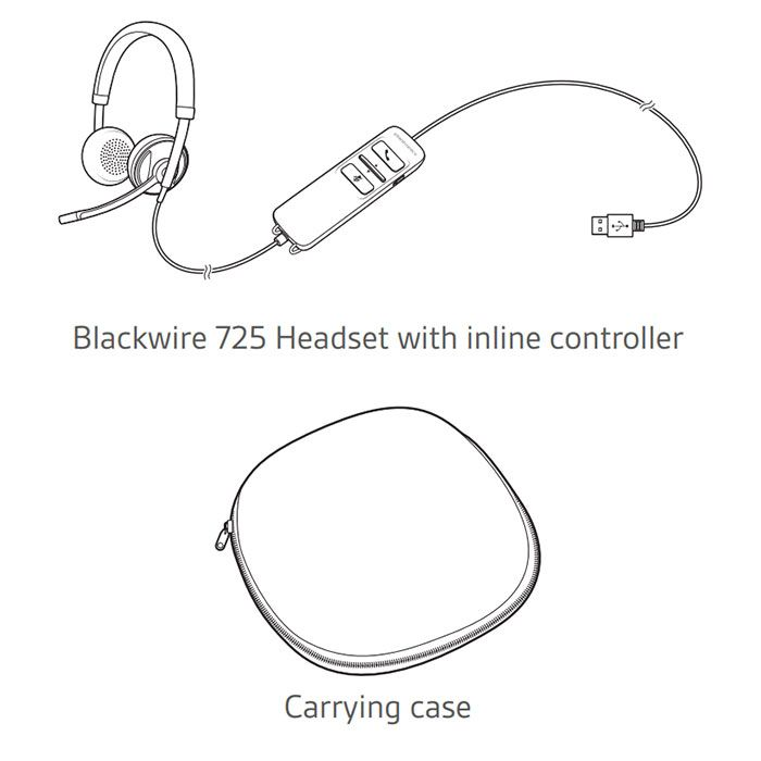 Plantronics Blackwire C725 USB Headset (202580-01)
