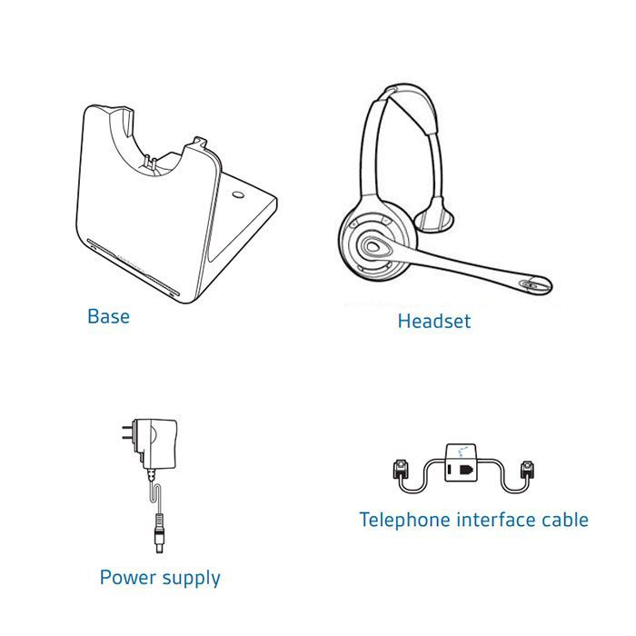 Plantronics CS510 Wireless Headset Package for Polycom SoundPoint IP and Polycom VVX Phones
