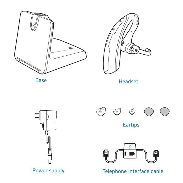 Plantronics CS530 Wireless Headset Package for Yealink T2/T4 Series IP Phones