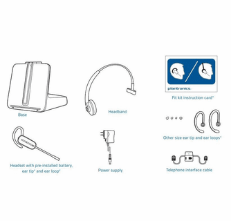 Plantronics CS540 Wireless Headset Package for Polycom