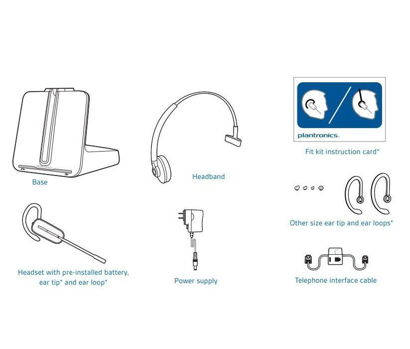 Plantronics CS540 Wireless Headset Package for Polycom SoundPoint IP and Polycom VVX Phones