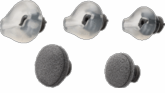 Plantronics Eartips, 3 Gel, 2 Foam (72913-01)