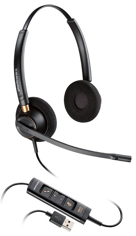 Plantronics EncorePro HW525 USB Headset (203444-01)