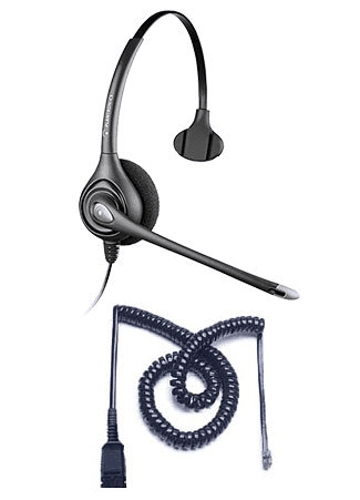 Plantronics HW251N Headset Package for Polycom SoundPoint IP and VVX Phones