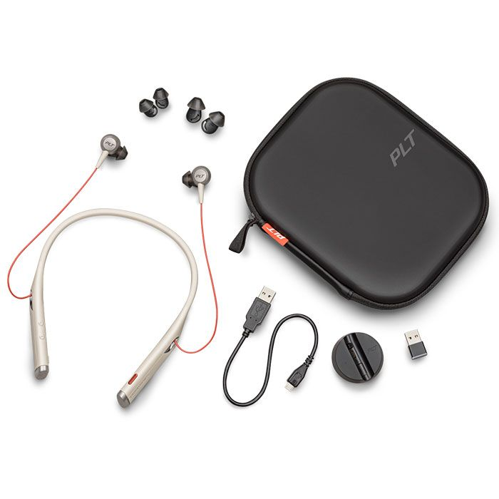 Plantronics Voyager 6200 UC Wireless Headset, USB-A Sand (208749-01)