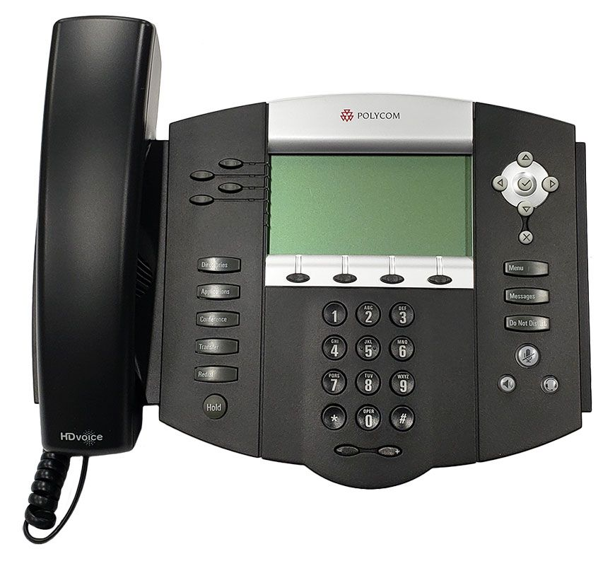 Lot of 6 Polycom SoundPoint IP 601 SIP VoIP Business Phones w//Stand and Handset