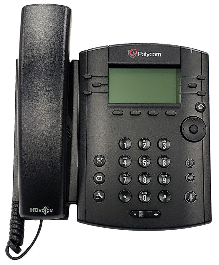 Polycom VVX 300 Business Media Phone w/AC Adapter (2200-46135-001)