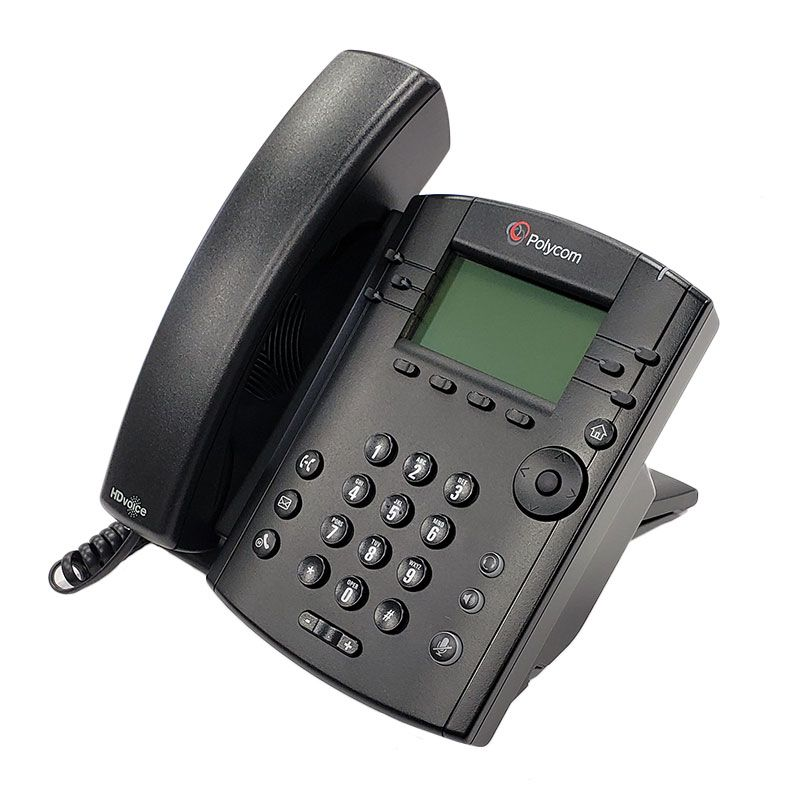 Polycom VVX 301 Business Media Phone w/AC Adapter (2200-48300-001)