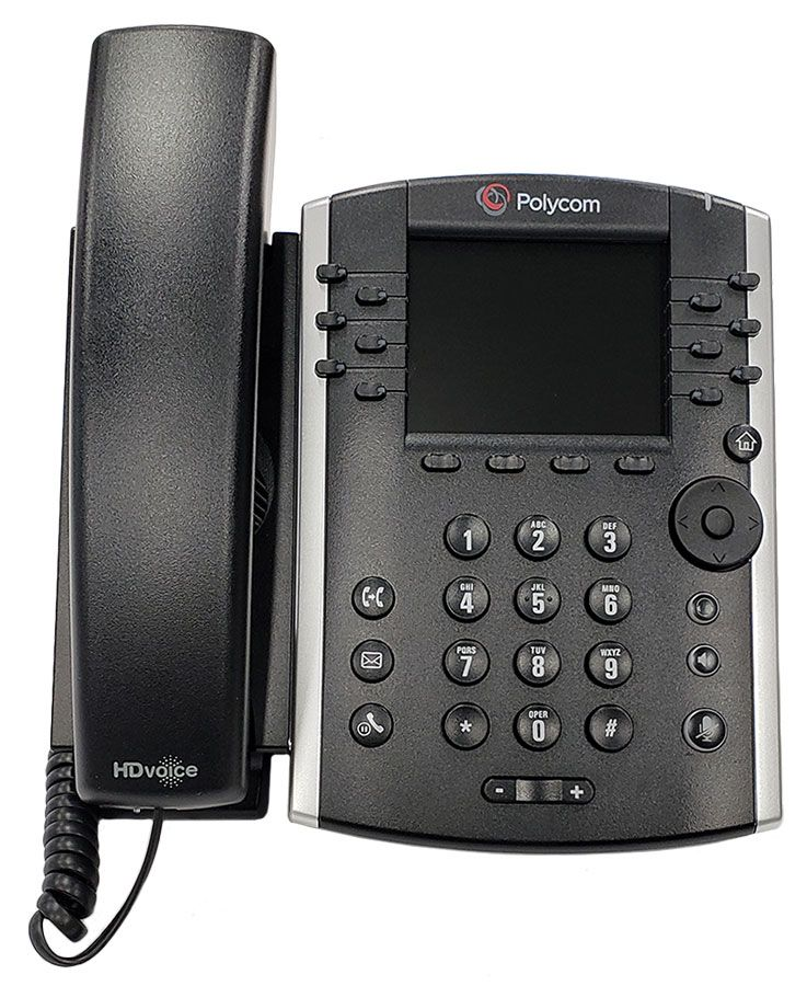 Polycom VVX 400 Business Media Phone (2200-46157-025) Grade B