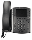 Polycom VVX 401 Business Media Phone w/AC Adapter (2200-48400-001)