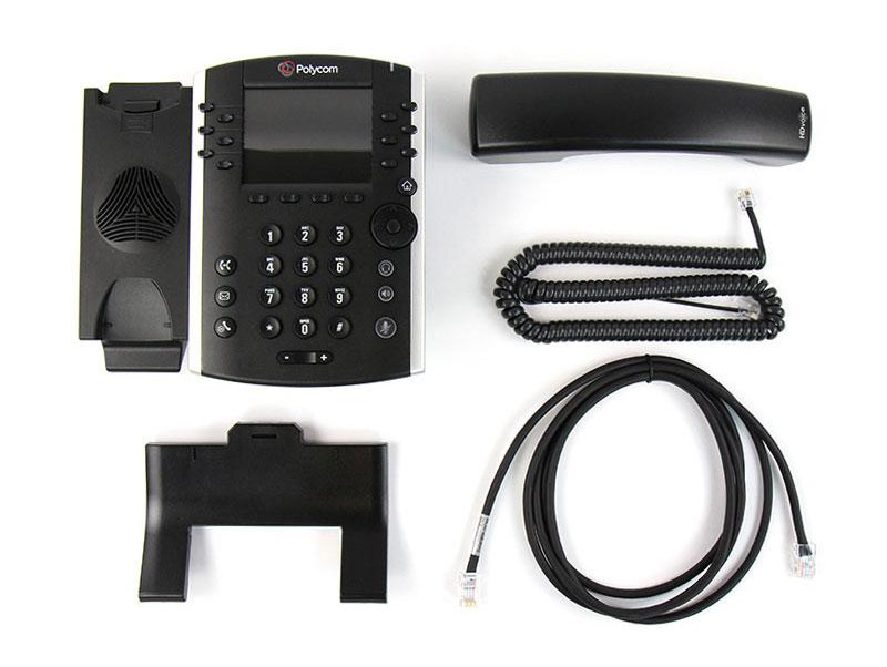 Polycom VVX 410 Business Media Phone w/AC Adapter (2200-46162-001)