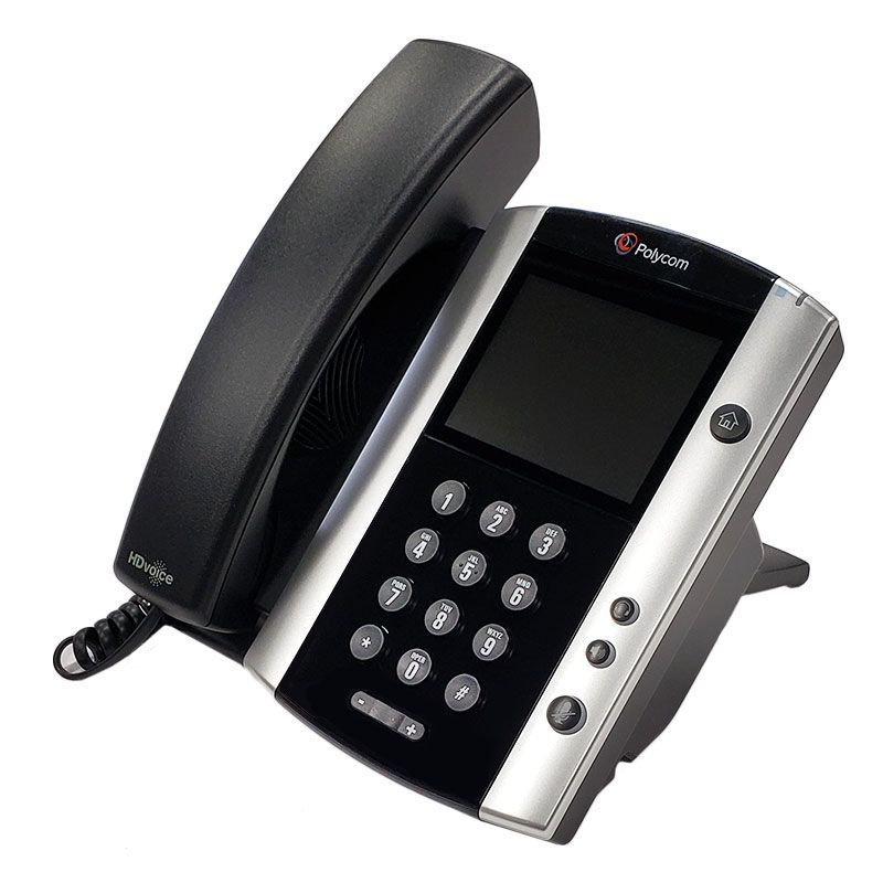Polycom VVX 500 Business Media Phone w/AC Adapter (2200-44500-001)