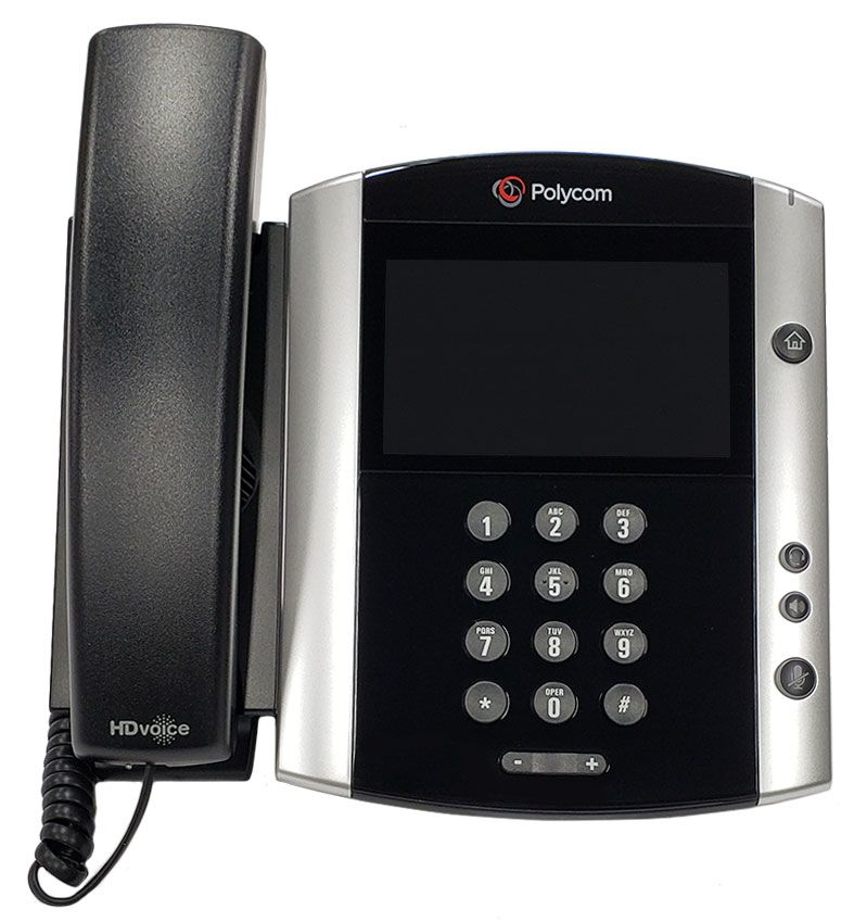 Polycom VVX 600 Business Media Phone w/AC Adapter (2200-44600-001)