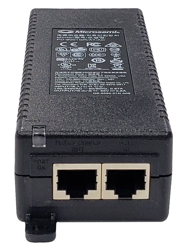 Microsemi PowerDsine PD-9001GR Gigabit PoE Injector (PD-9001GR/AT/AC)