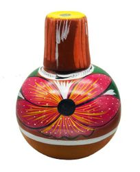 Large Colored Decoration Jug - Botellon de Barro Decorado