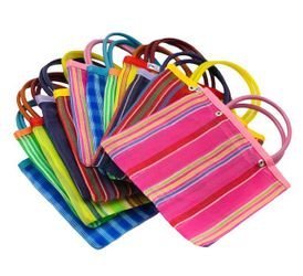 Goodie Bag - Mexican Mesh Bag Assorted Colors (Pack of 12)