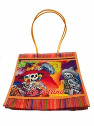 "Catrina Mexican Grocery Mesh Bag 15"" Large"
