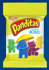 Sour Panditas Little Panda Gummy Bears by Ricolino (Pack of 3)