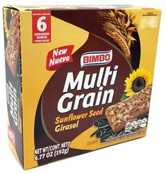 Bimbo Multigrain with Sunflower Bars 6 Twin Pack (Pack of 3)