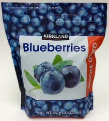 Blueberries Whole Dried by Kirkland Signature