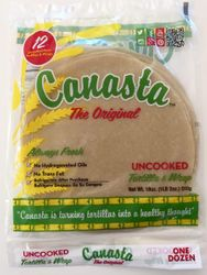 Canasta Uncooked Fresh Flour Tortillas with Lard (Green Label)