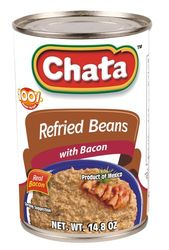 Chata Refried Beans with Bacon (Pack of 3)