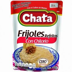 Chata Refried Beans with Chilorio in Pouch (Pack of 3)