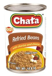 Chata Refried Beans with Chorizo and Cheese (Pack of 3)