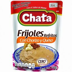 Chata Refried Beans with Chorizo and Cheese in Pouch (Pack of 3)