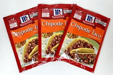 Chipotle Taco Seasoning Mix by McCormick (Pack of 3)