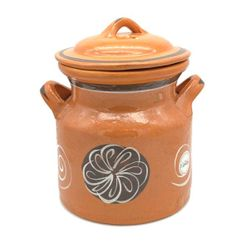 Clay Pot Lead Free with Lid Large
