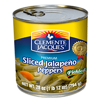 Clemente Jacques Sliced Jalapeno Peppers Pickled