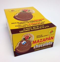 De la Rosa Marzipan covered with Chocolate