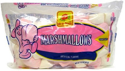 De la Rosa Pink and White Marshmallows (Pack of 3)