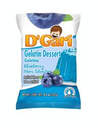 DGARI Blueberry (Mora Silvestre)  w/water Gelatin (Pack of 3)