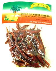 Dried Chile de Arbol Chili Pods