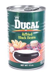 Ducal Refried Black Beans (Pack of 3)
