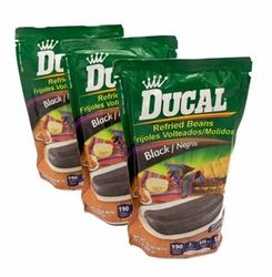Ducal Refried Black Beans Pouch (Pack of 3)